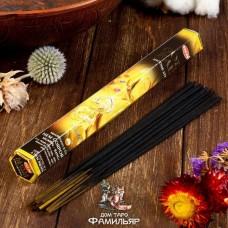 Благовония HEM GOLD RAIN Золотой дождь (Нероли, голубой лотос, сандал,чампа)