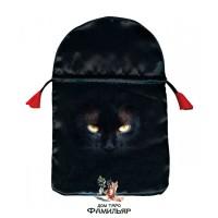 Черная кошка - мешочек для карт Таро